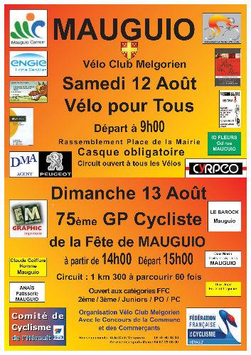 affiche GP FETE MAUGUIO 2017